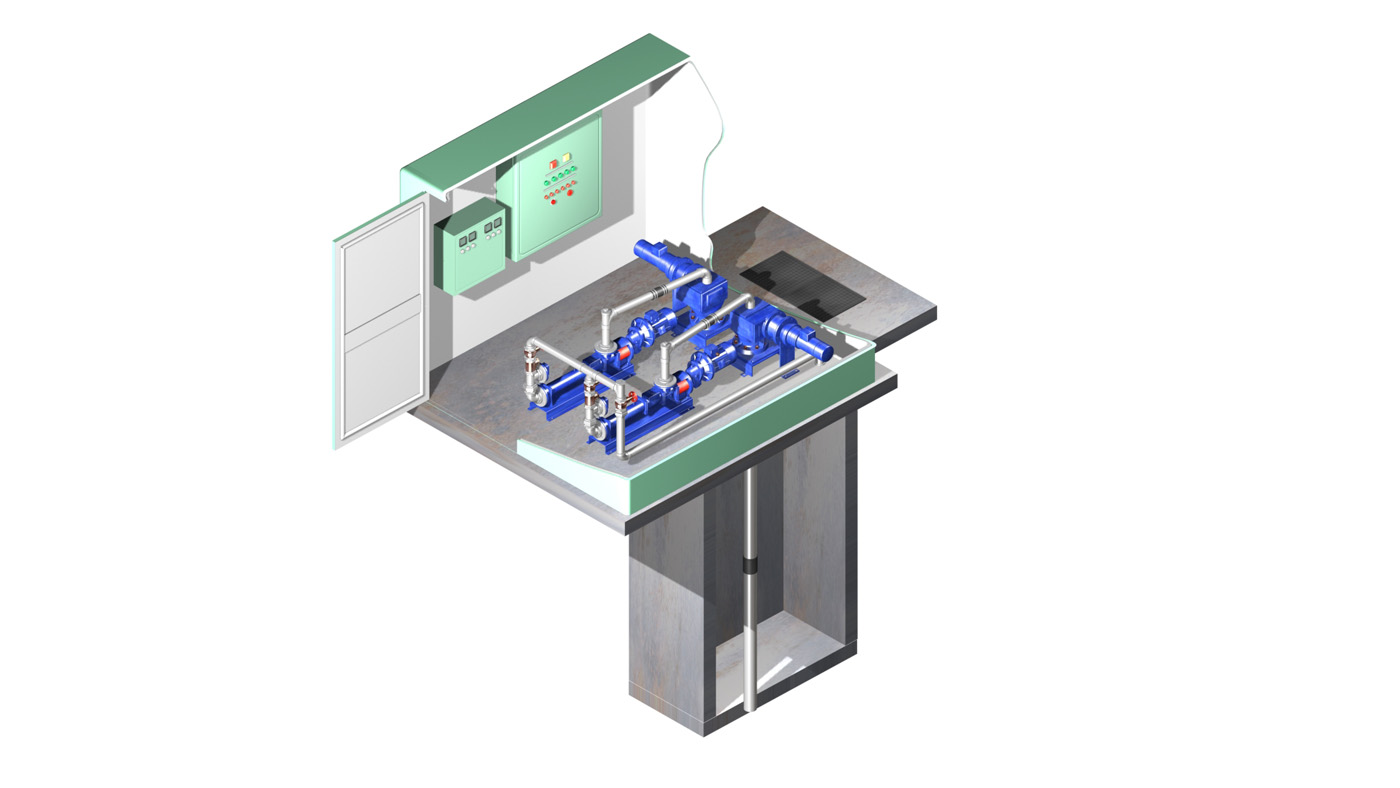 3d pumping station