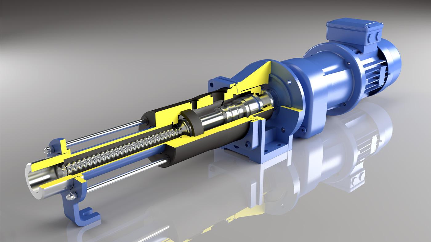3d dosing pump model, NOV Process and Flow Technologies UK Limited